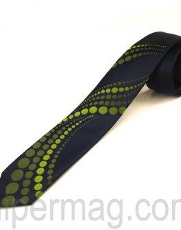 Мъжка вратовръзка New Line - тъмно синя на точки
