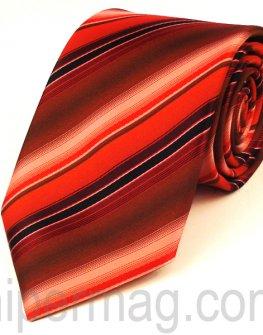 Мъжка вратовръзка New Line - червени и черни раета