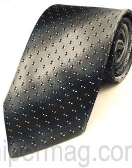 Мъжка вратовръзка New Line - сиви нюанси на малки квадратчета