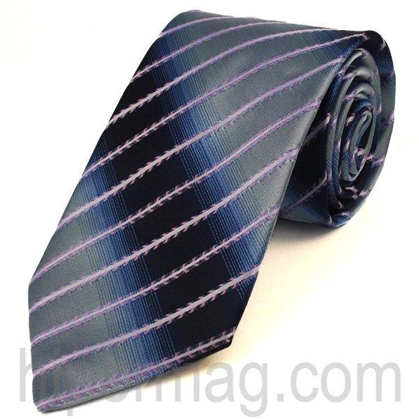 Мъжка вратовръзка New Line - синя на ивици