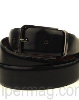 Мъжки колан Styler естествена кожа - черен