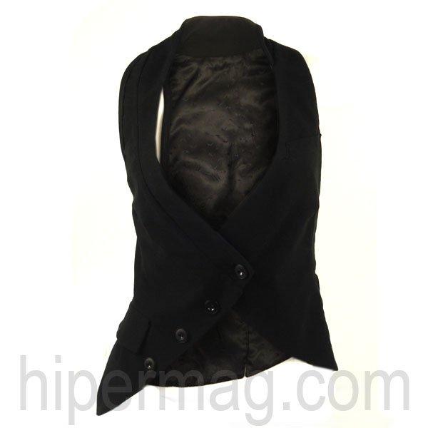 Дизайнерски асиметричен елек – черен