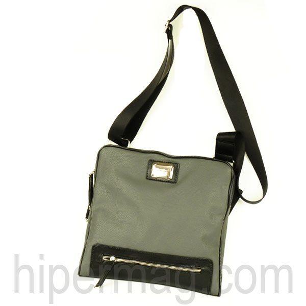 Мъжка чанта Sara Pen - сива с черно