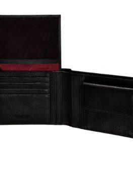 Стилен мъжки портфейл от естествена кожа (кафяв)