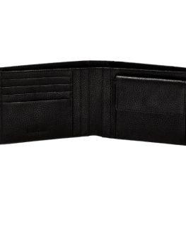 Стилен мъжки портфейл от естествена кожа (черен)
