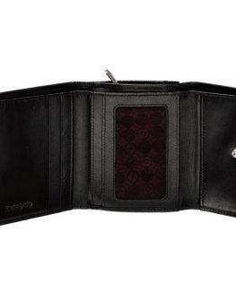 Дамски портфейл от естествена кожа (черен)