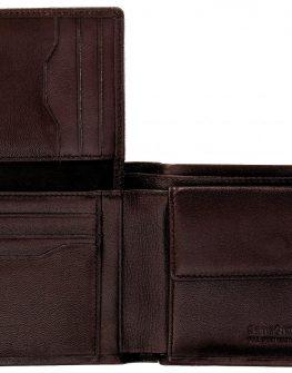 Mъжки портфейл от естествена кожа (черен)