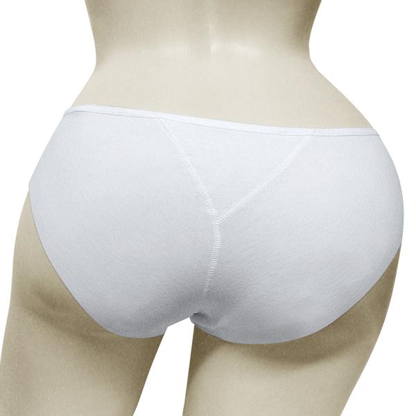 Дамски слип с ниска талия памук - бял
