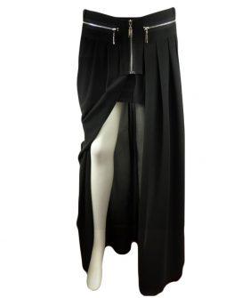Дълга дизайнерска пола от коприна