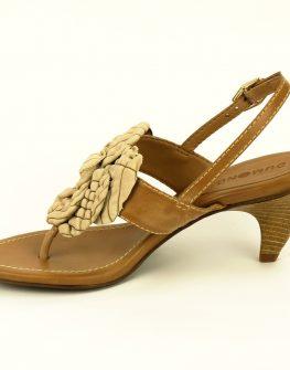 Дамски сандал DUMOND с флоранен мотив