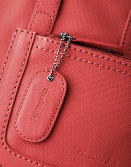Голяма дамска чанта Samsonite Park - цвят червен