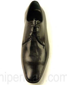 Официални мъжки обувки Sara Pen с набраздена кожа