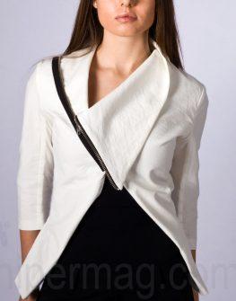 Бяло дизайнерско сако La speciale