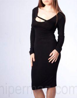 Елегантна и семпла черна рокля La speciale