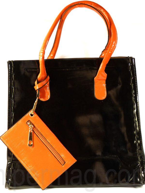 Удобна дамска чанта с портмоне