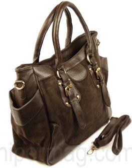 Интересна дамска чанта Exchange - кафяв цвят