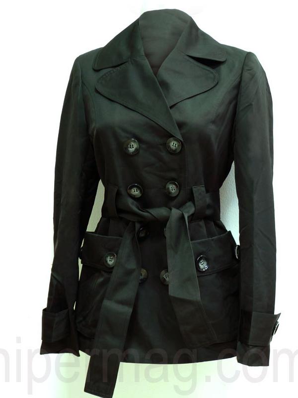 Дамски шлифер - цвят черен