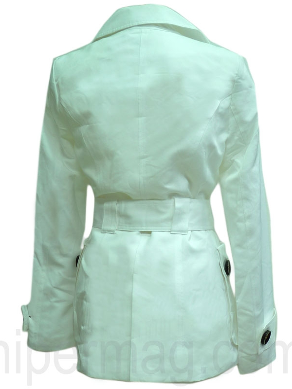 Дамски шлифер - цвят бял
