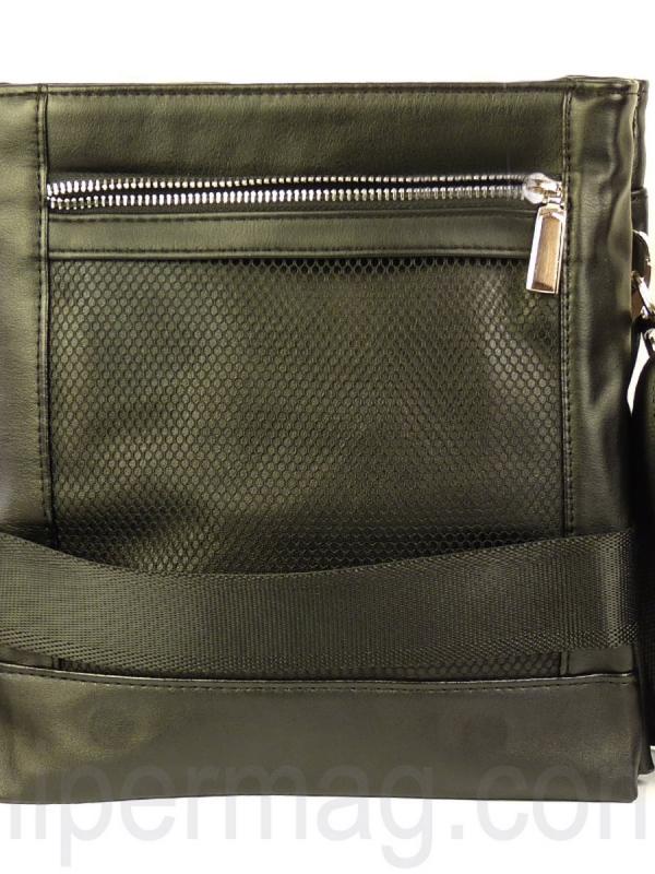Мъжка чанта за рамо Exchange - черен цвят