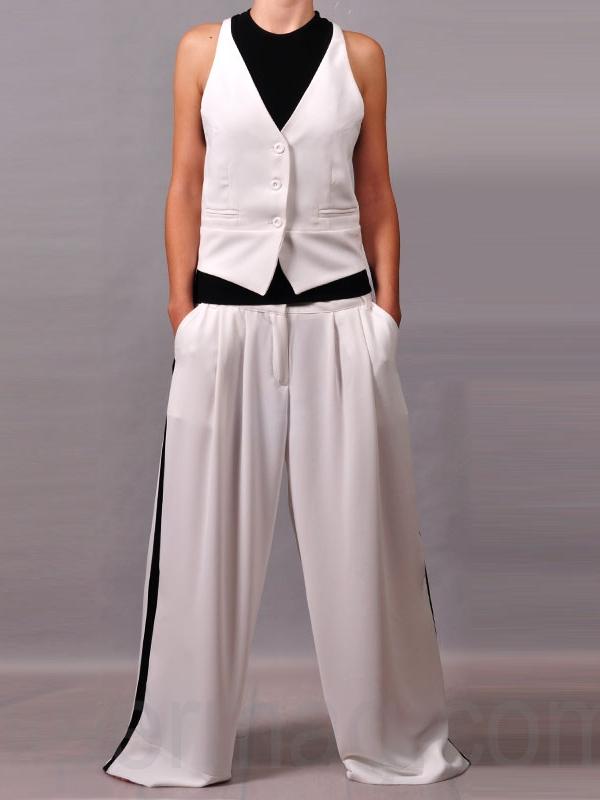 Елегантен панталон La speciale с широка кройка