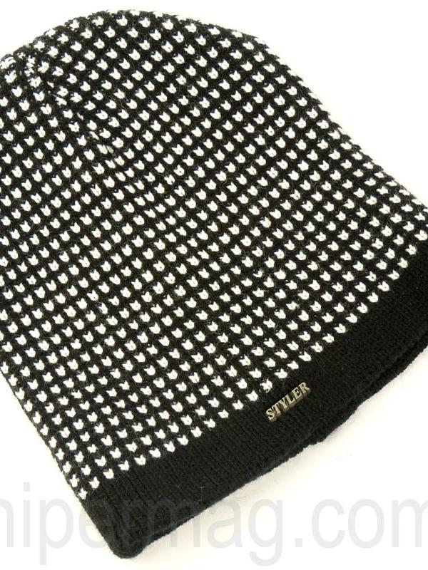 Мъжка шапка STYLER – черно и бяло