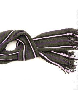 Шал спорт STYLER - широки раета в лилаво, черно и бяло