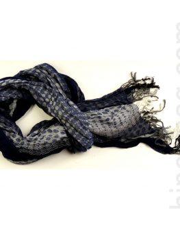 Унисекс шал STYLER - син на точки