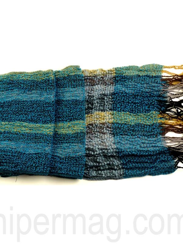 Плътен шал STYLER за зимата в утенъци на синьото