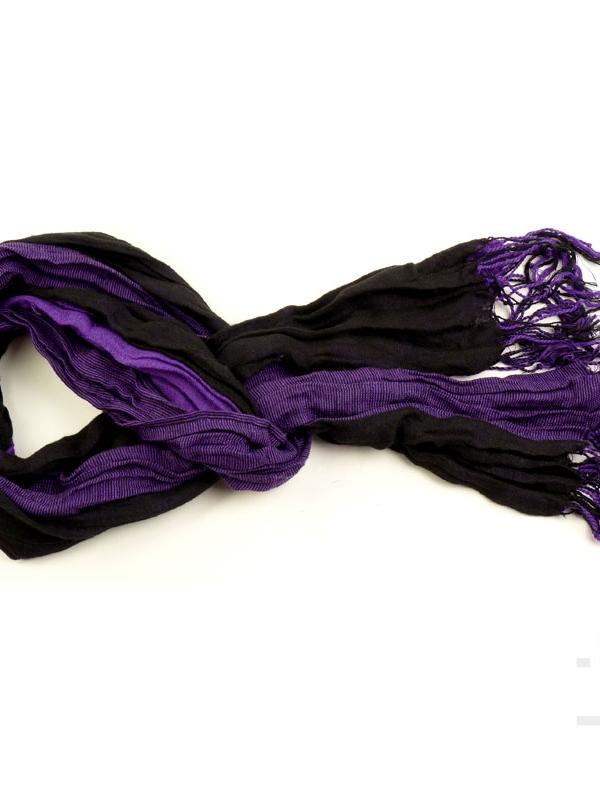 Унисекс шал STYLER - лилаво и черно