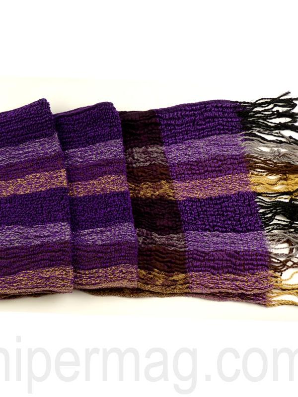 Плътен шал STYLER за зимата в утенъци на лилавото