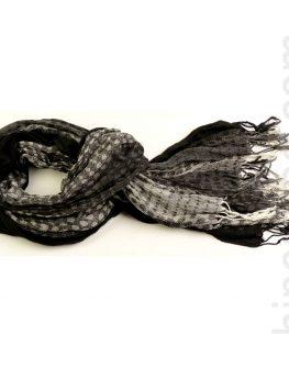 Унисекс шал STYLER – черен с точки