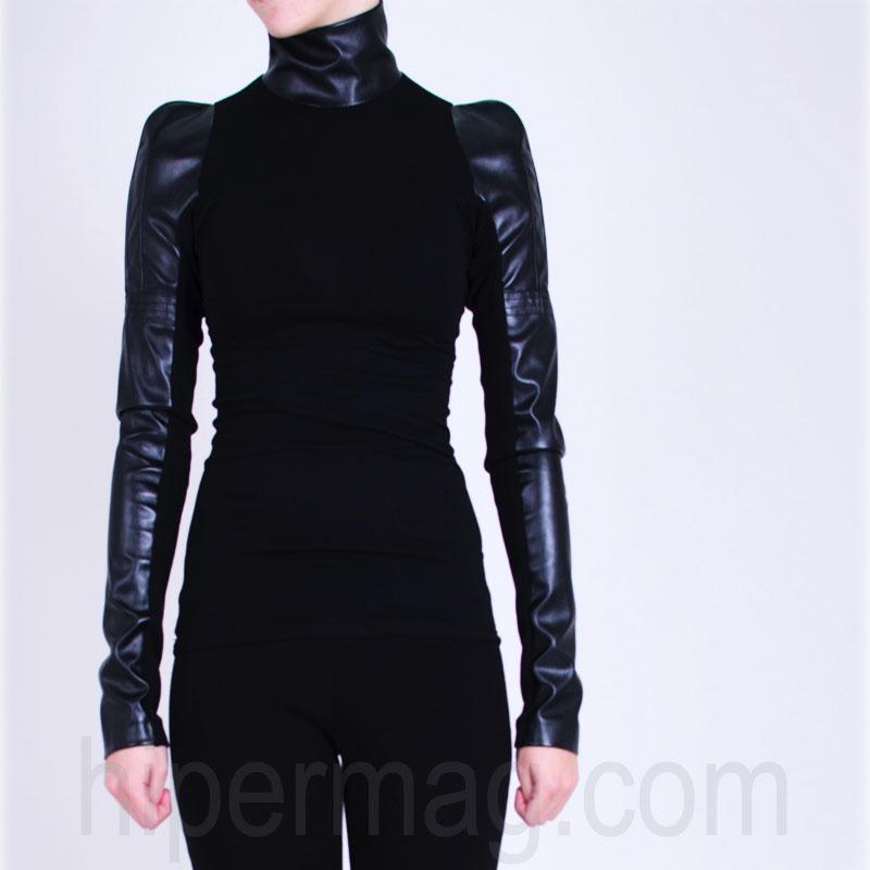2ad98639807 Дамска блуза La Speciale с интересни кожени ръкави