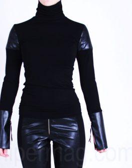 Дамско поло от La Speciale с кожени елементи