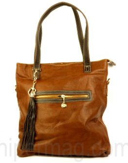 Дамска чанта Exchange в тъмно кафяв цвят