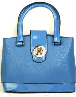 Дамска чанта Exchange в син цвят