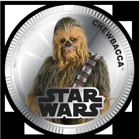 """Монета """"Star Wars, Чубака"""""""
