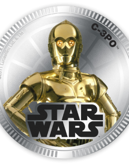 "Монета ""Star Wars, С-3РО"""
