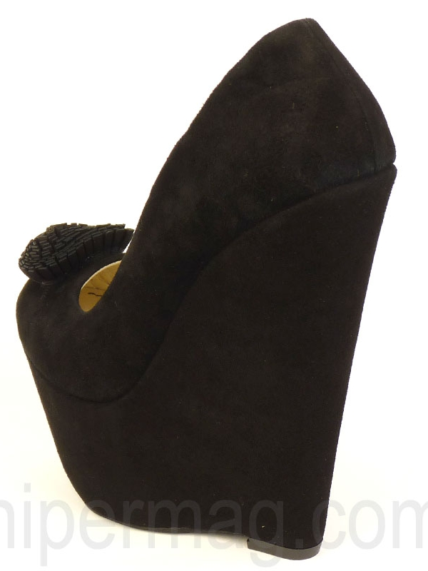 Дамски обувки с платформа Sara Pen - черни