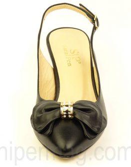 Черни дамски обувки Sara Pen на нисък ток