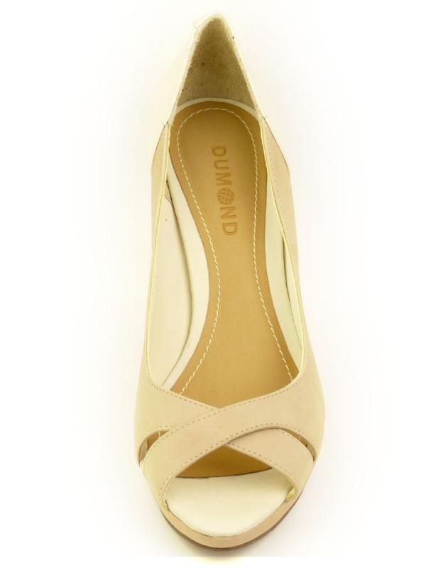 Стилни дамски обувки DUMOND в беж
