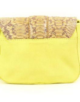 Малка дамска чанта DUMOND - десен на змийска кожа