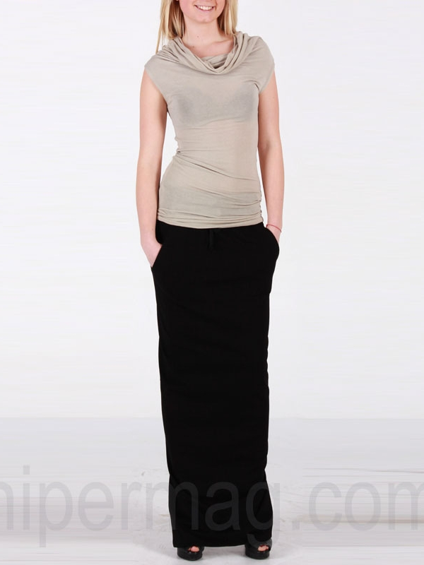 Дискретна дамска пола La Speciale в черно