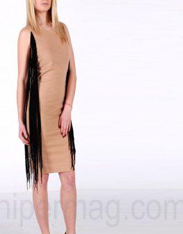 Елегантна рокля La Speciale в телесен цвят