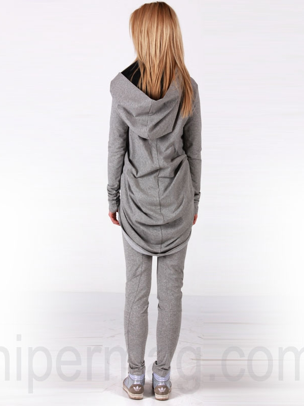 Дамска спортна жилетка La Speciale в сиво