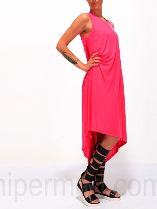 Дълга рокля La Speciale – циклама
