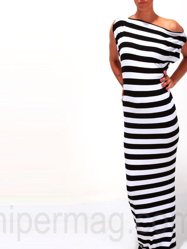 Дълга рокля райе от La Speciale