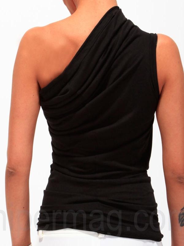 Асиметричен черен потник от La Speciale