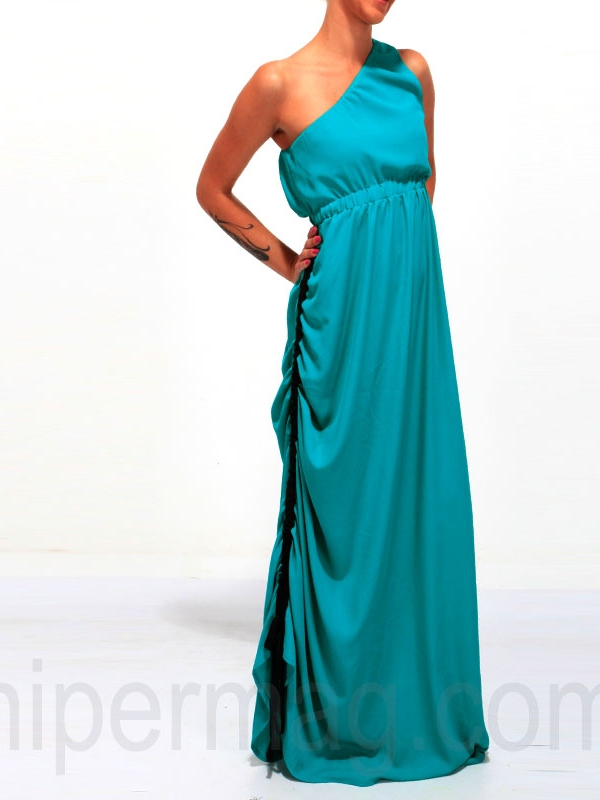 Дизайнерска рокля La Speciale с едно рамо