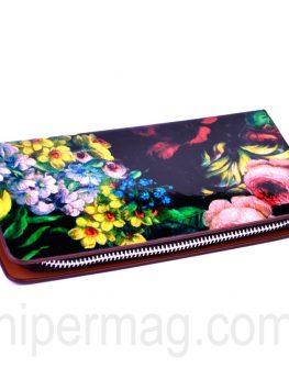 Дамски портфейл - десен цветя