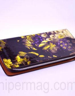 Дамски портфейл - десен цветя 2